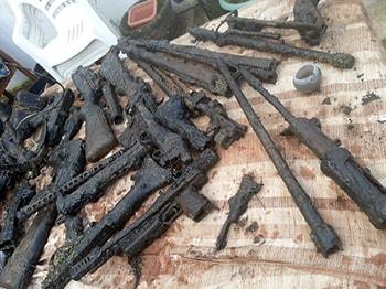 40 zbraní nalezeno pod vodou v Anglii