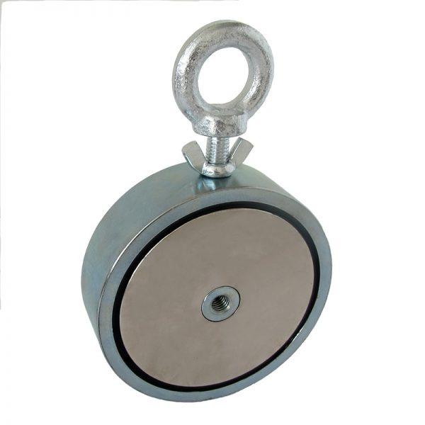 Magnet s okem oboustranný - síla 2x1100 kg