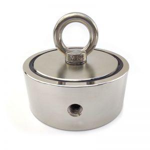 Magnet s okem oboustranný - síla 2x500 kg