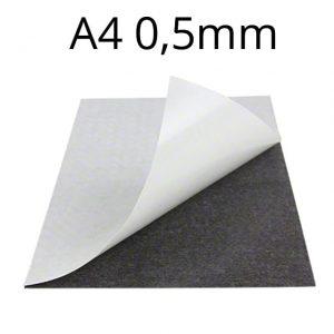 Samolepicí magnetická fólie 0,5 mm (A4)