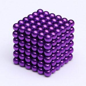 Magnetické kuličky Neocube fialová (+6 náhradních kuliček)