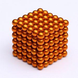 Magnetické kuličky Neocube oranžová (+6 náhradních kuliček)