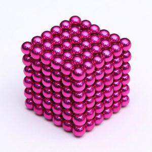 Magnetické kuličky Neocube růžová (+6 náhradních kuliček)