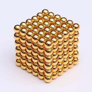 Magnetické kuličky Neocube zlatá (+6 náhradních kuliček)