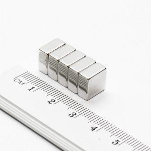 Neodymový magnet kvádr 10x10x5 mm - N42