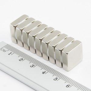 Neodymový magnet kvádr 15x15x5 mm - N38