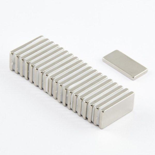 Neodymový magnet kvádr 20x10x2 mm - N38