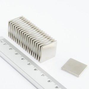 Neodymový magnet kvádr 20x20x2 mm - N38