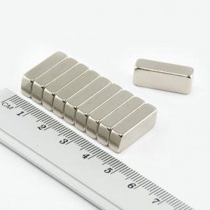 Neodymový magnet kvádr 20x8x5 mm - N35
