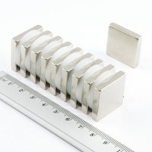 Neodymový magnet kvádr 25x25x5 mm - N38