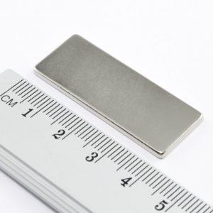 Neodymový magnet kvádr 40x15x2 mm - N38