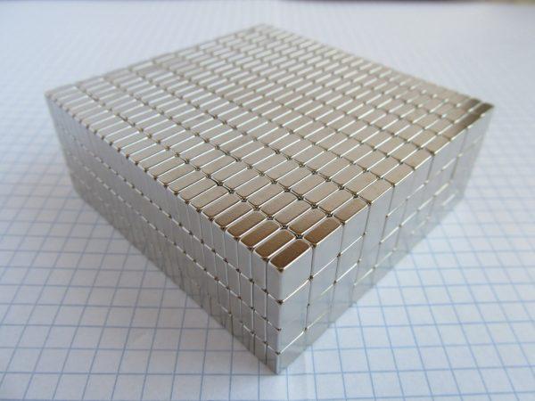 Neodymový magnet kvádr 7x7x3 mm - N38