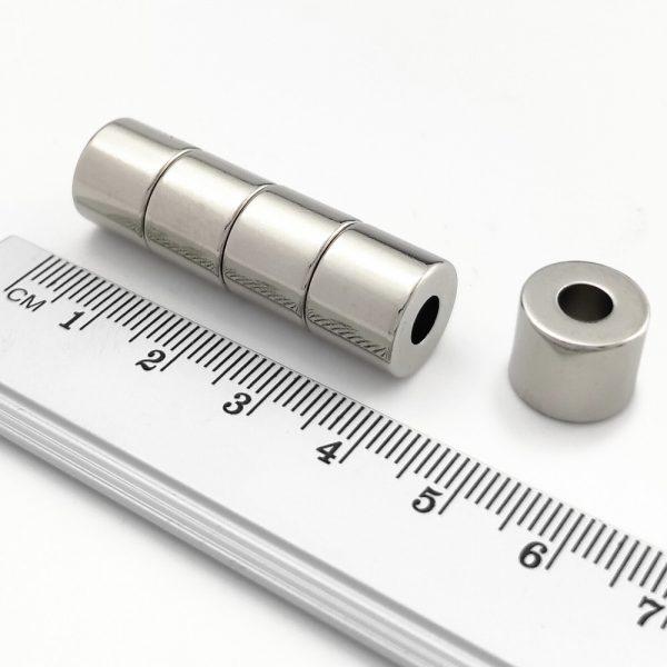 Neodymový magnet prsten 12-5x10 mm - N38