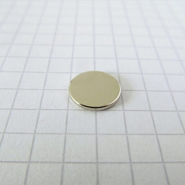 Neodymový magnet válec 10x1 mm - N38