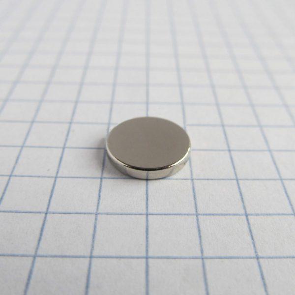 Neodymový magnet válec 10x1,5 mm - N38