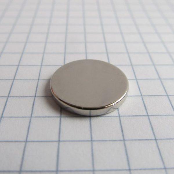 Neodymový magnet válec 15x2 mm - N38