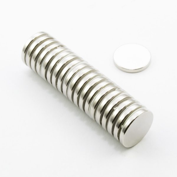 Neodymový magnet válec 15x2 mm - N45