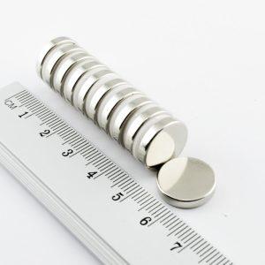 Neodymový magnet válec 15x2,7 mm - N30