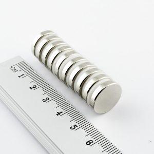 Neodymový magnet válec 15x3 mm - N38