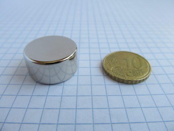 Neodymový magnet válec 20x10 mm - N38