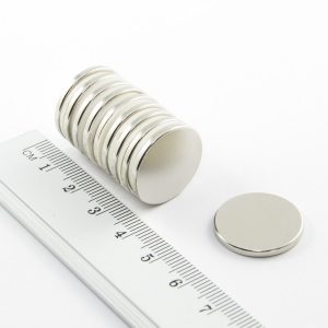 Neodymový magnet válec 20x2 mm - N38