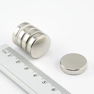 Neodymový magnet válec 20x4 mm - N38