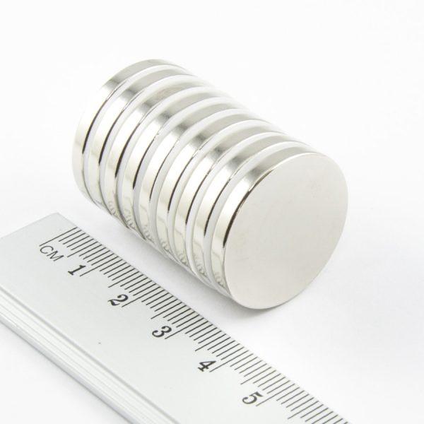 Neodymový magnet válec 25x3 mm - N38