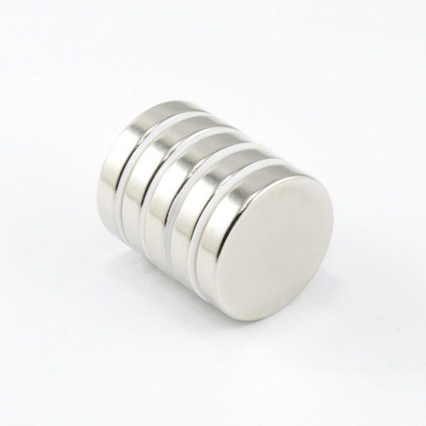Neodymový magnet válec 25x5 mm - N38