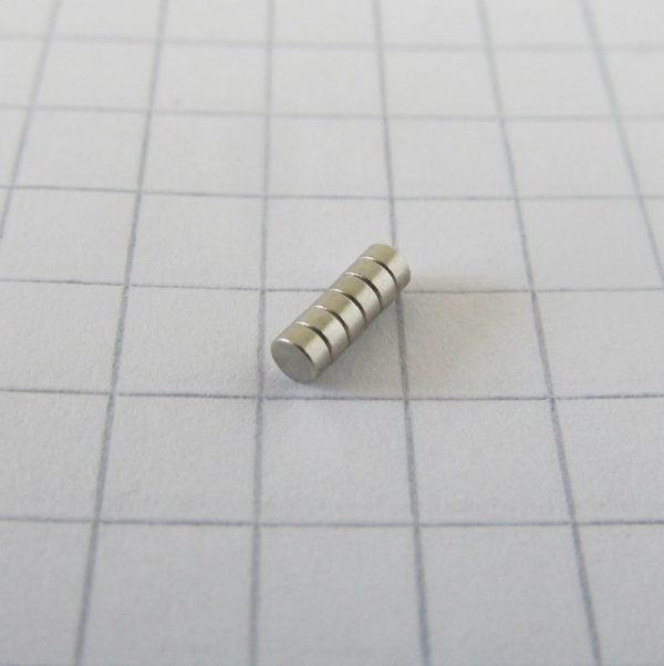 Neodymový magnet válec 2x1 mm - N52