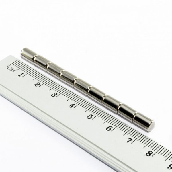 Neodymový magnet válec 5x8 mm - N38