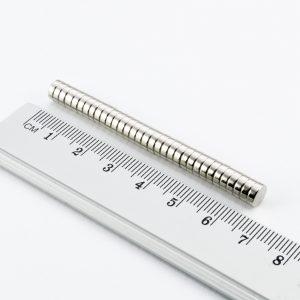 Neodymový magnet válec 6x2 mm - N38